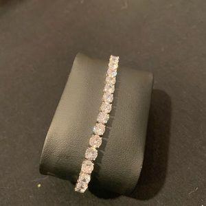 Other - 18K White Gold 5MM CZ Diamond Bracelet 7.5inches